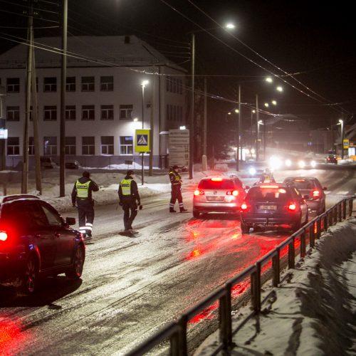 Kauno kelių policijos reidas, ieškant neblaivių vairuotojų