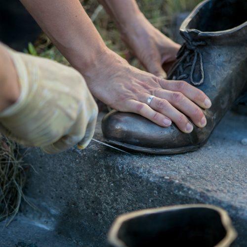 """Naujasis """"Kauno akcentas"""" – """"Pasivaikščiojimas palaimintojo batais""""   © Vilmanto Raupelio nuotr."""