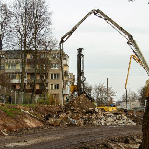 """Vandentiekio avarija netoli """"Girstučio""""  © Laimio Steponavičiaus nuotr."""