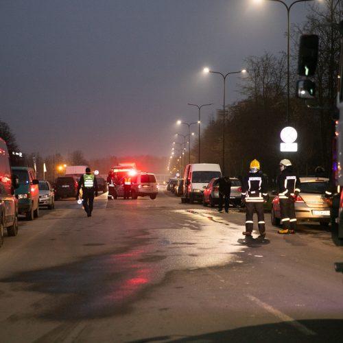Stipri avarija Partizanų gatvėje  © Justinos Lasauskaitės nuotr.
