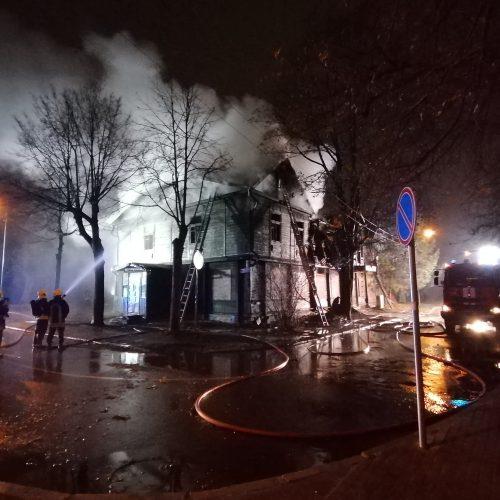 Namo gaisras Savanorių prospekte