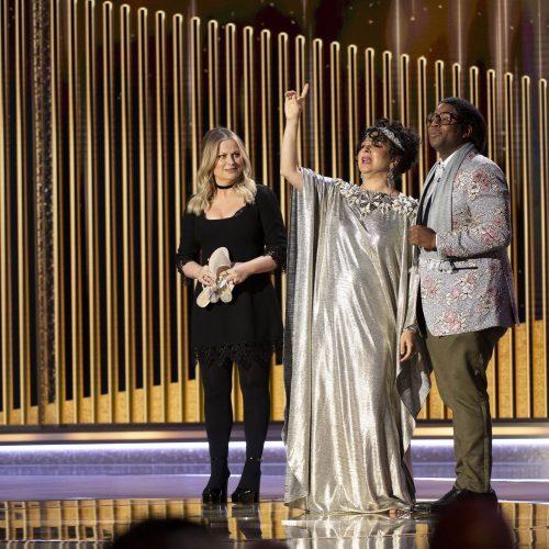 """Virtualioje ceremonijoje 78-ąjį kartą įteikti """"Auksiniai gaubliai""""  © Scanpix, EPA-ELTA nuotr."""