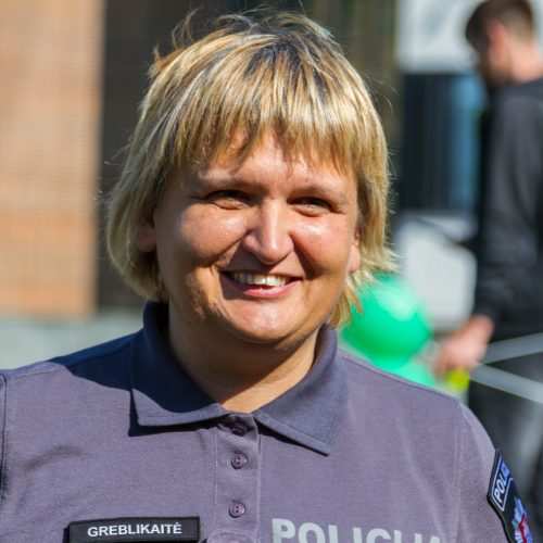 Policijos ir jojikų siurprizas ligoniukams  © Laimio Steponavičiaus nuotr.