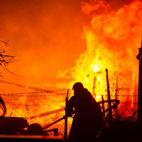 Didžiulis gaisras Karmėlavoje