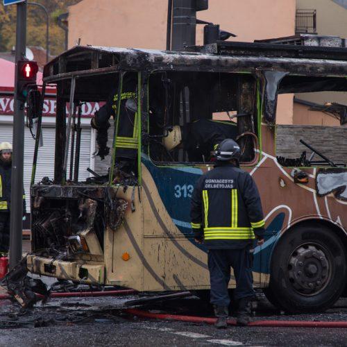 Netoli Kauno autobusų stoties supleškėjo troleibusas