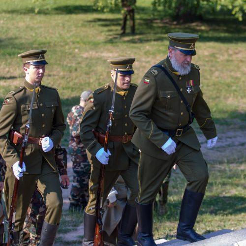 Iškelta Lietuvos šaulių sąjungos vėliava  © Laimio Steponavičiaus nuotr.