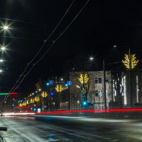 Kaunas ruošiasi didžiosioms šventėms  © Laimio Steponavičiaus nuotr.
