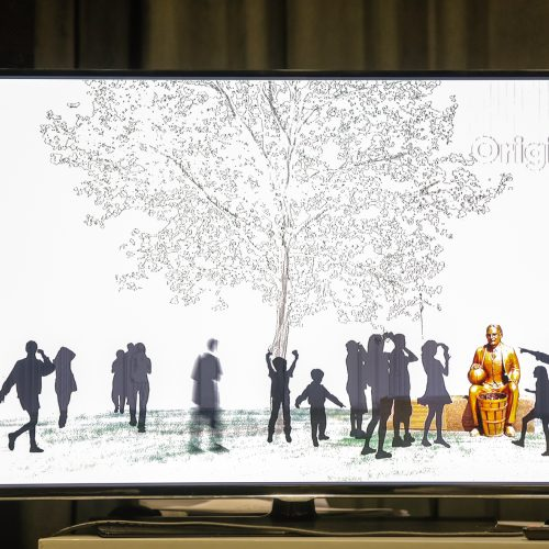 Krepšinio namų projekto pristatymas  © Laimio Steponavičiaus nuotr.