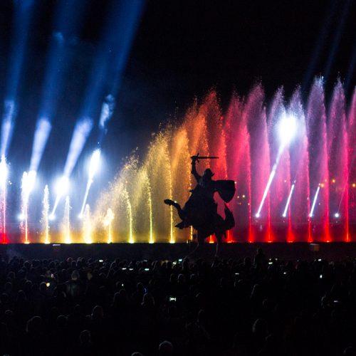 Muzikinis šokančių fontanų ir lazerių šou