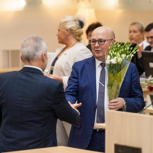 Paskutinis 2015-2019 metų kadencijos tarybos posėdis  © Laimio Steponavičiaus nuotr.
