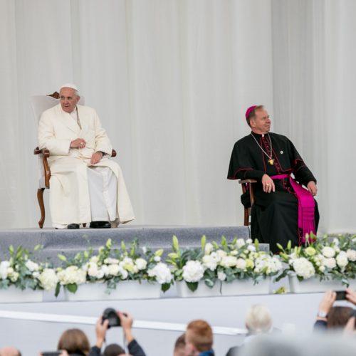 Jaunimas laukia popiežiaus Pranciškaus  © Vilmanto Raupelio nuotr.
