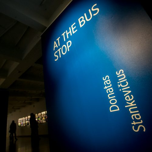 """Atidaryta D. Stankevičiaus paroda """"At the Bus Stop"""""""