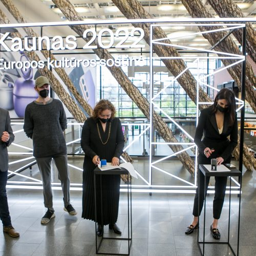 """""""Kaunas 2022"""" ir """"Akropolis"""" pasirašė bendradarbiavimo sutartį  © Vilmanto Raupelio nuotr."""