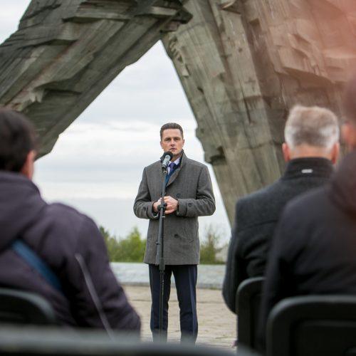 Žydų genocido dienos minėjimas IX forte  © Vilmanto Raupelio nuotr.