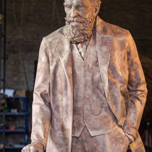 J. Basanavičiaus paminklo liejykla  © P. Peleckio / BFL nuotr.