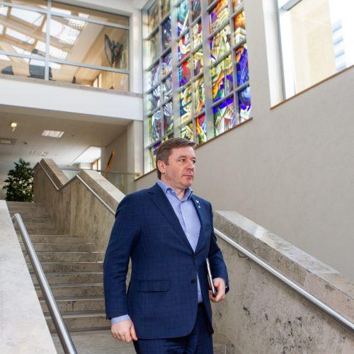 Kultūros ministro M. Kvietkausko priesaika Seime  © Pauliaus Peleckio / Fotobanko nuotr.