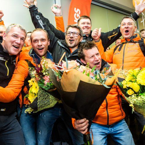 Vilniaus oro uoste pasitikti Dakaro ralio dalyviai  © Gretos Skaraitienės / Fotobanko nuotr.