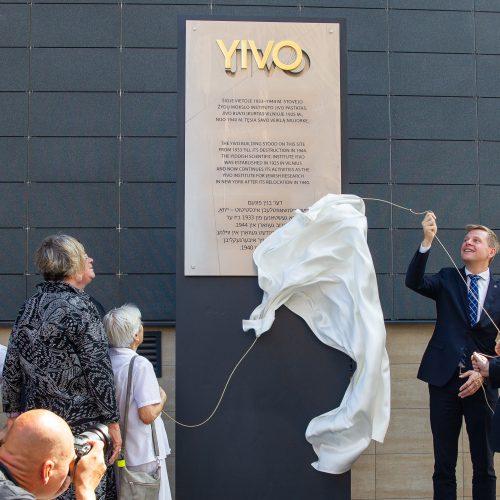 Atidengta YIVO instituto atminimo lenta  © I. Gelūno / Fotobanko nuotr.