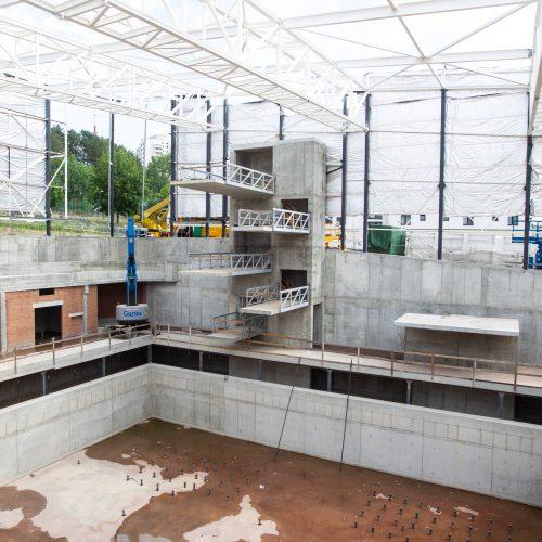 Lazdynų baseino statybų aikštelė  © P. Peleckio / Fotobanko nuotr.