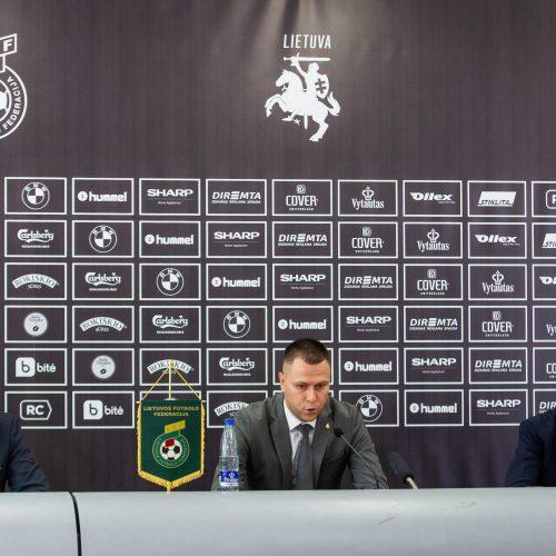 Lietuvos futbolo federacijos spaudos konferencija
