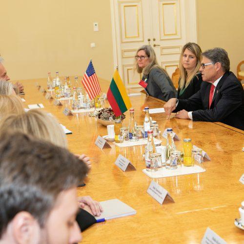 G. Nausėda susitiko su JAV energetikos sekretoriumi  © P. Peleckio / Fotobanko nuotr.