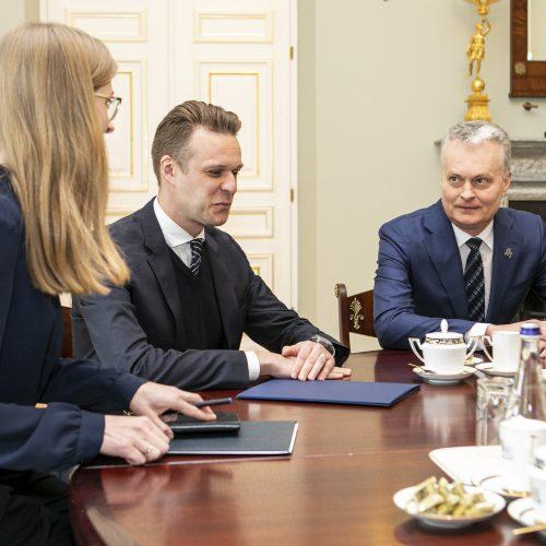 G. Nausėdos ir G. Landsbergio susitikimas  © P. Peleckio / Fotobanko nuotr.