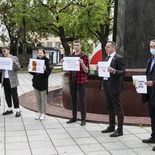 Sąjūdžio prieš Astravo AE protesto akcija  © P. Peleckio / Fotobanko nuotr.