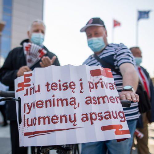 Vilniaus viešojo transporto darbuotojų mitingas  © I. Gelūno / Fotobanko nuotr.