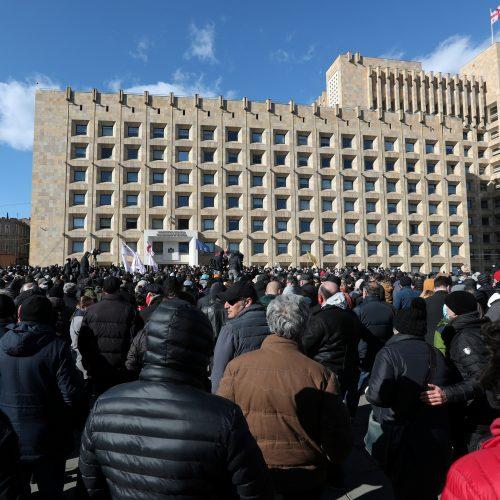 Sakartvele protestuoja tūkstančiai žmonių  © Scanpix nuotr.