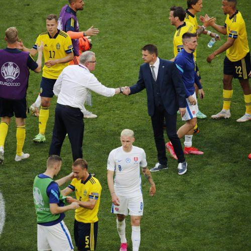 Europos futbolo čempionatas: Švedija–Slovakija 1:0  © Scanpix nuotr.