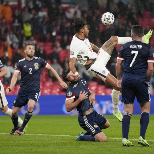 Europos futbolo čempionatas: Anglija–Škotija 0:0  © Scanpix nuotr.