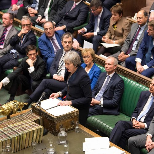 """Britų parlamentas atmetė """"Brexit"""" sutartį  © Scanpix nuotr."""