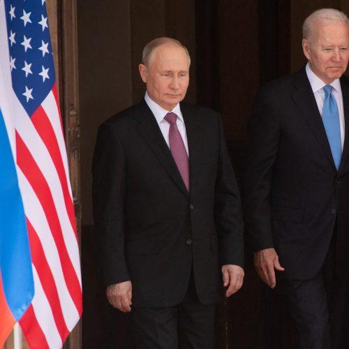 J. Bideno ir V. Putino susitikimas Ženevoje  © Scanpix nuotr.