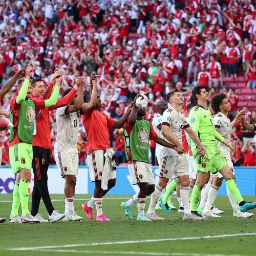 Europos futbolo čempionatas: Belgija–Danija 2:1