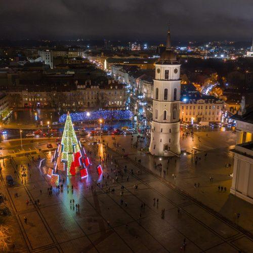 2020 m. Vilniaus Kalėdų eglės įžiebimas  © P. Peleckio / Fotobanko, S. Žiūros nuotr.