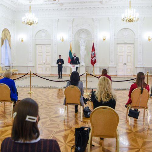 G. Nausėdos spaudos konferencija  © R. Dačkaus / Prezidentūros nuotr.