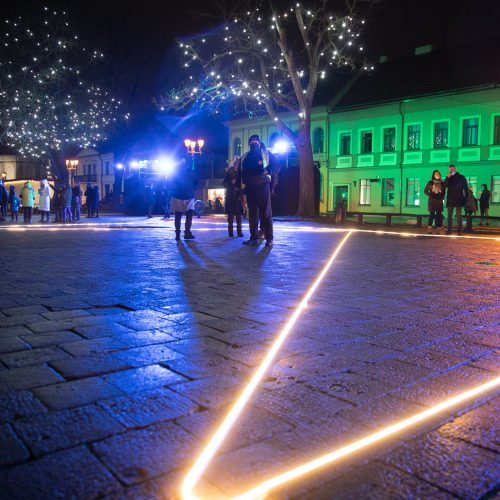 Šventinės Kauno Kalėdų eglės įžiebimo akimirkos  © Justinos Lasauskaitės, Kauno miesto savivaldybės nuotr.