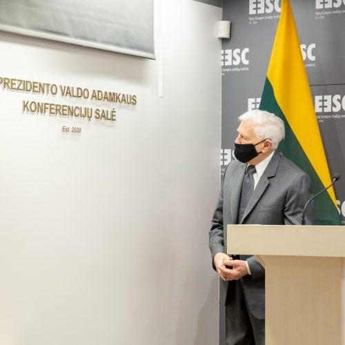 Prezidento Valdo Adamkaus vardo salės atidarymas Rytų Europos studijų centre