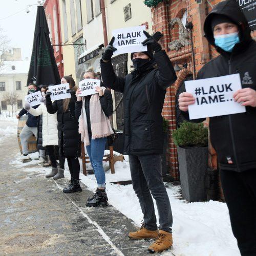 Kauno barai ir kavinės prisijungė prie protesto akcijos