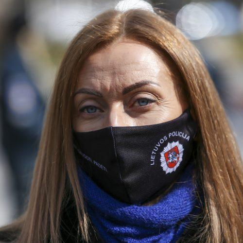 Pareigūnų akcija prie Vyriausybės  © M. Morkevičiaus / ELTOS nuotr.