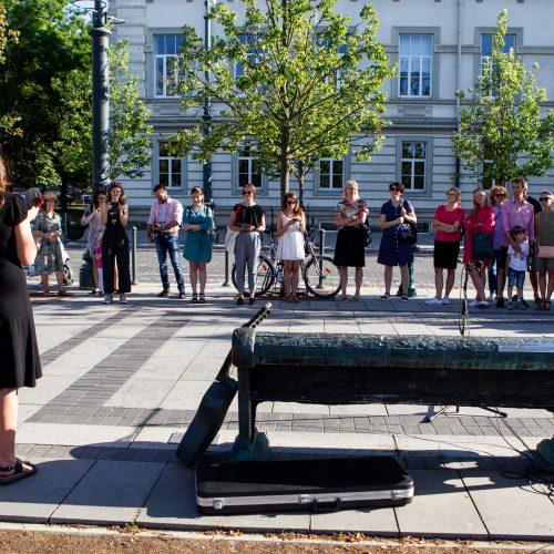 Prakalbintas suoliukas V. Kernagiui atminti  © P.Peleckio/Fotobanko nuotr.