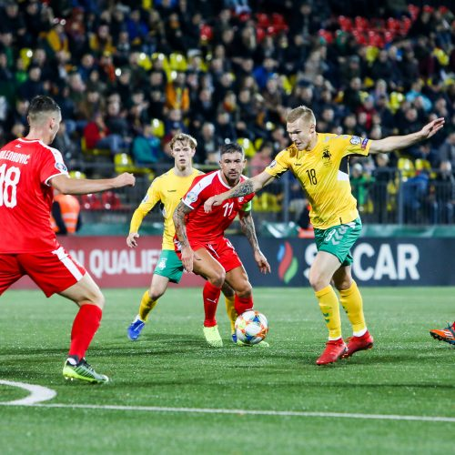 Europos futbolo čempionato atranka: Lietuva – Serbija  © I. Gelūno/Fotobanko nuotr.