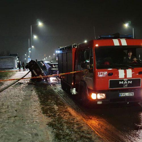 Neblaivaus vairuotojo sukelta avarija Šiaurės prospekte  © Editos Šileikės nuotr.