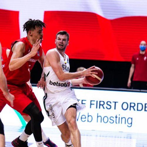 Europos krepšinio čempionato atranka: Lietuva – Danija 77:76  © Ž.Vingelio nuotr.