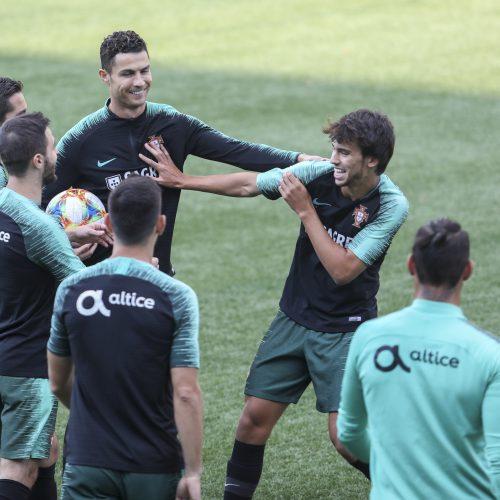 Portugalijos futbolo rinktinės treniruotė  © M. Morkevičiaus/ELTOS nuotr.