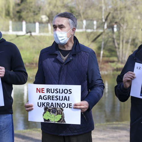 Akcija prieš Rusijos agresiją Ukrainoje  © M. Morkevičiaus/ELTOS nuotr.