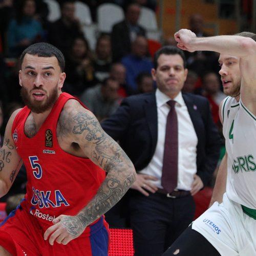 "Eurolyga: CSKA – ""Žalgiris"" 85:82  © ITAR-TASS nuotr."