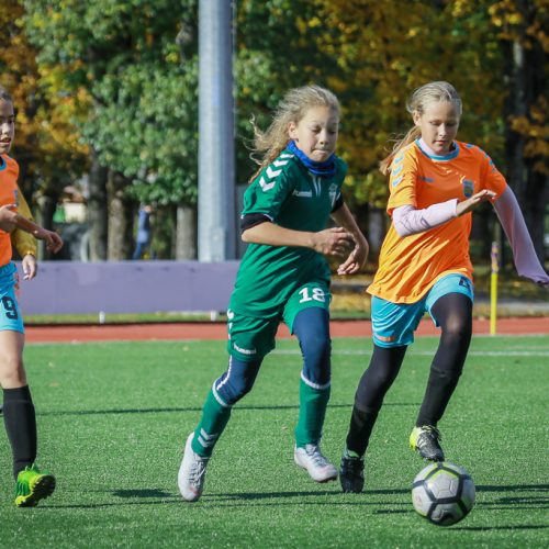 LMFA Lietuvos mergaičių futbolo čempionato 2006 m. gimusių mergaičių finalinis etapas  © Vytauto Petriko nuotr.