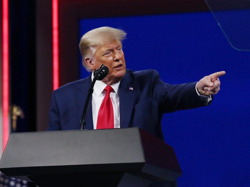 D. Trumpas pirmoje po kadencijos pabaigos kalboje neslėpė ambicijų vėl tapti prezidentu
