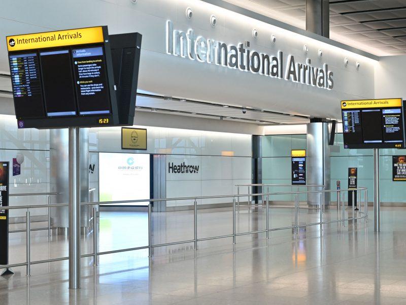 Londono Hitrou oro uostas dėl pandemijos patyrė milijardinių nuostolių